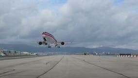 Passenger airplane taking off stock video