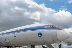 Passenger airplane tu-155 Royalty Free Stock Image