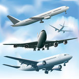 Passenger airplanes Stock Photos
