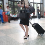 Passenger in the airport Royalty Free Stock Photo