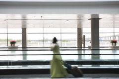 Passenger in the airport Stock Photography