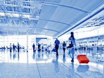 Passenger in the airport.interior of the airport Royalty Free Stock Photography