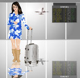 Passenger in airport Royalty Free Stock Photo