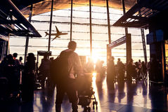Passenger In the airport Royalty Free Stock Photography