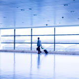 Passenger in airport Royalty Free Stock Photos
