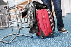 Passenger at the airport Stock Photo