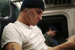 Passenger&Headphones Image libre de droits