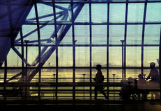 Passenger in the Bangkok airport Royalty Free Stock Photo