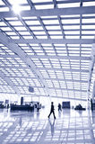 Passenger in the Beijing airport Stock Image