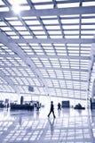 Passenger in the Beijing airport Stock Image