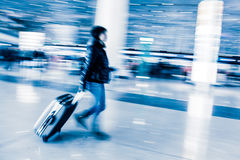 Passenger in the Beijing airport Royalty Free Stock Photography