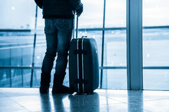 Passenger in the Beijing airport Stock Photography