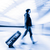 Passenger in the Beijing airport,motion blur Royalty Free Stock Photography