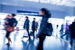 Passenger in the Beijing bus station Royalty Free Stock Images