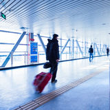 Passenger in the Beijing bus station Royalty Free Stock Photos