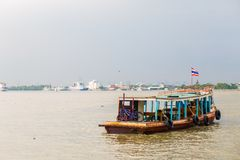 Passenger boat across the River. Passenger boat across the Chao Phraya River Stock Photo