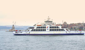 Passenger boat in Bosphorus,Istanbul Stock Photo