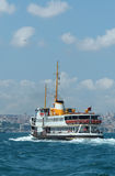 Passenger boat in the Bosphorus, Istanbul, Turkey Stock Images