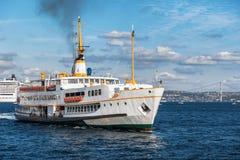Passenger boat in the Bosphorus, Istanbul, Turkey Stock Photos