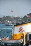 Passenger boat in the Bosphorus, Istanbul, Turkey royalty free stock photography
