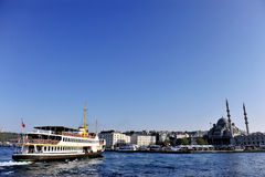 Passenger boat on Bosphorus strait Royalty Free Stock Photography