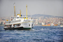 Passenger boat on Bosphorus Strait Stock Image