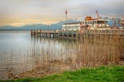 Passenger boat in Chiemsee lake Royalty Free Stock Image