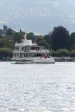 Passenger boat on Geneva lake royalty free stock photo