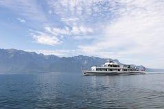 Passenger boat on Geneva lake stock photo