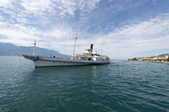 Passenger boat on Geneva lake royalty free stock photos