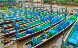 Passenger boat at Inle Lake, Myanmar Stock Images