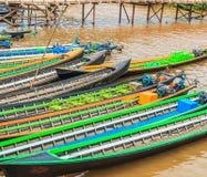Passenger boat at Inle Lake, Myanmar Stock Image