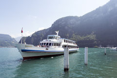 Passenger boat on lake Lucerne Royalty Free Stock Image