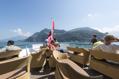 Passenger boat on lake Lucerne Stock Photos