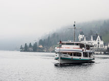 Passenger boat in Lake Lucerne Stock Photo