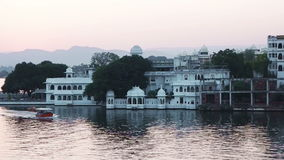 Passenger boat in Lake Pichola. Udaipur, Rajasthan, India stock video