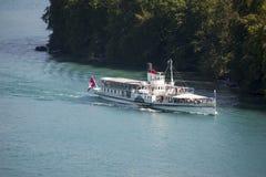 Passenger boat, Lake Thun, Switzerland Stock Photo