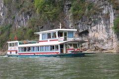 Passenger boat Li river, Xingping, China Stock Images