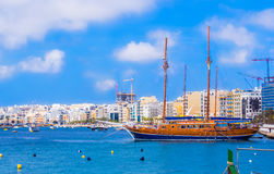 Passenger boat in Malta Stock Images