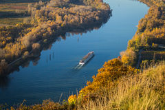 Passenger boat on the river Rhone Royalty Free Stock Images