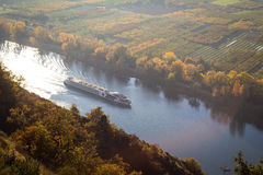 Passenger boat on the river Rhone Royalty Free Stock Image
