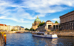 Passenger boat on River Spree in Berlin Royalty Free Stock Image