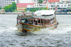 Passenger boat running. Royalty Free Stock Photography