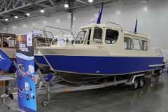 Passenger Boat Samara 850 TR in the exhibition Crocus Expo in Mo Royalty Free Stock Image