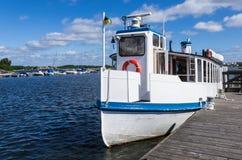 Passenger boat. For sightseeing in Karlskrona archipelago in Sweden Stock Image