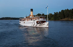 Passenger boat in the Stockholm archipelago. Stock Image