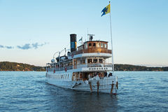 Passenger boat in the Stockholm archipelago Royalty Free Stock Image