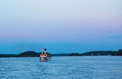 Passenger boat in the Stockholm archipelago Stock Photography