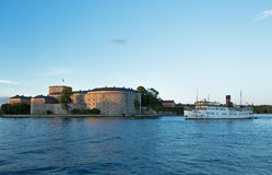 Passenger boat in the Stockholm archipelago Stock Image