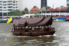 Passenger boat or taxi boat sailing on Chao Phraya River in Bangkok, Thailand, Asia royalty free stock image